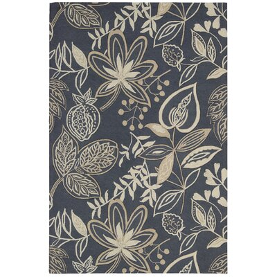 York Hand-Hooked Blue/Beige Area Rug Rug Size: Rectangle 5 x 76