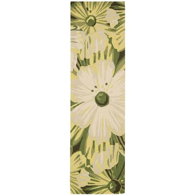 York Hand-Hooked Herb Area Rug Rug Size: Runner 23 x 8