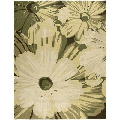 York Hand-Hooked Herb Area Rug Rug Size: Rectangle 8 x 106