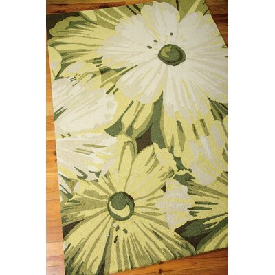 York Hand-Hooked Herb Area Rug Rug Size: 5' x 7'6
