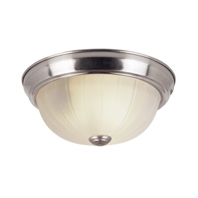 Lawley 1-Light Flush Mount Finish: Brushed Nickel