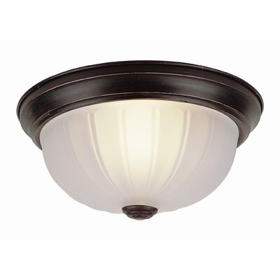 Lawley 1-Light Flush Mount Finish: Rubbed Oil Bronze