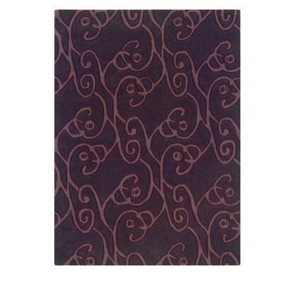 Columban Hand-Tufted Chocolate/Violet Area Rug Rug Size: Rectangle 5 x 7