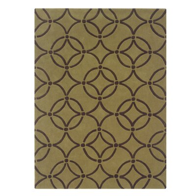 Columban Hand-Tufted Wasabi/Chocolate Area Rug Rug Size: 8 x 10