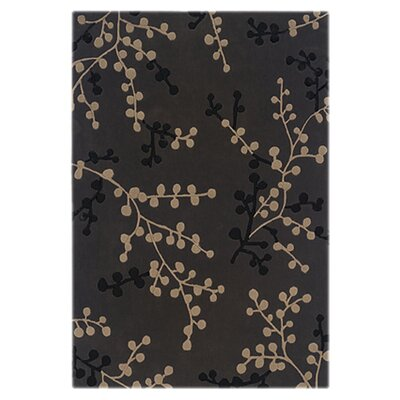 Columban Hand-Tufted Charcoal/Beige Area Rug Rug Size: Rectangle 8 x 10