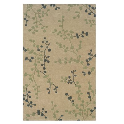 Columban Hand-Tufted Beige Area Rug Rug Size: Rectangle 5 x 7