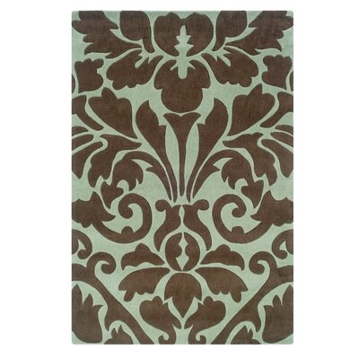 Columban Hand-Tufted Blue Area Rug Rug Size: 110 x 210