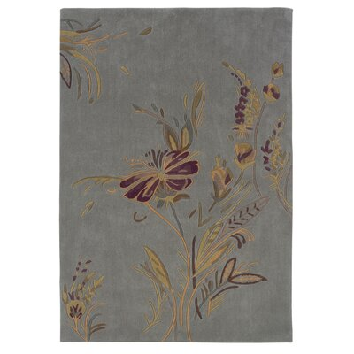 Columban Hand-Tufted Blue/Gold Area Rug Rug Size: 110 x 210