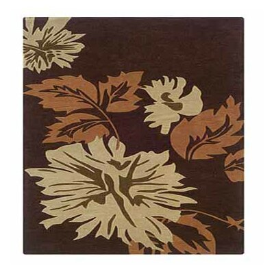 Columban Hand-Tufted Chocolate Area Rug Rug Size: Rectangle 5 x 7