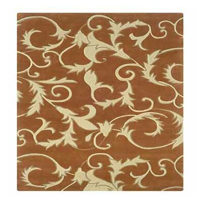 Columban Hand-Tufted Pumpkin/Ivory Area Rug Rug Size: Rectangle 8 x 10