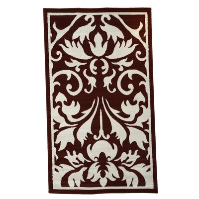Zeigler Red/Ivory Area Rug Rug Size: 43 x 73