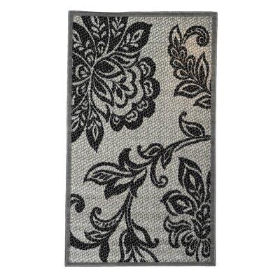 Zeigler Gray/Black Area Rug Rug Size: 43 x 73