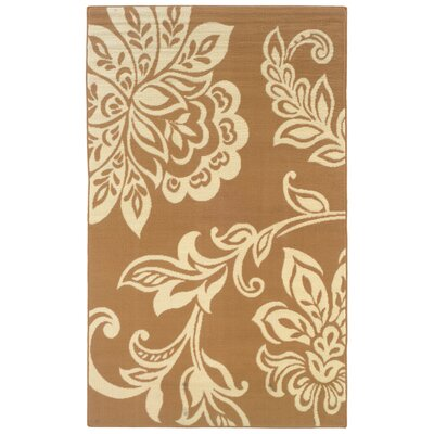 Charlton Home Zeigler Brown/Ivory Area Rug