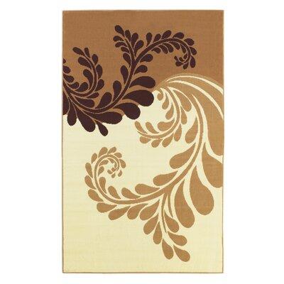 Zeigler Gold/Ivory Area Rug Rug Size: 43 x 73
