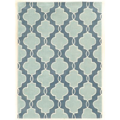 Columban Hand-Tufted Blue Area Rug Rug Size: Rectangle 5 x 7