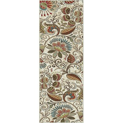 Concord Ivory Area Rug Rug Size: Runner 23 x 77