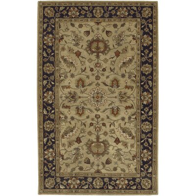 Stanford Gold/Charcoal Rug Rug Size: Rectangle 4' x 6'