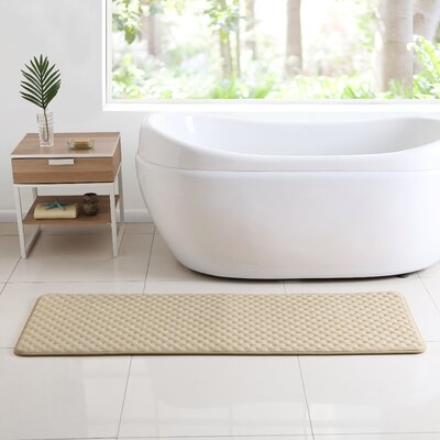Glenna Memory Foam Runner Bath Rug Color: Taupe
