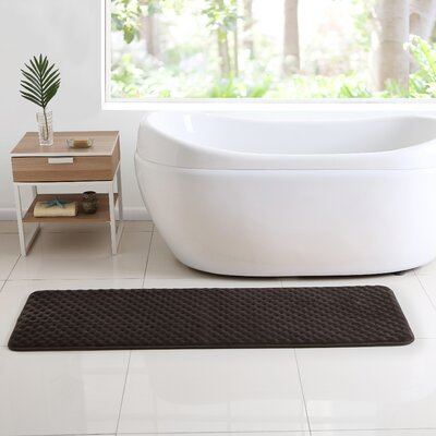 Glenna Memory Foam Runner Bath Rug Color: Brown