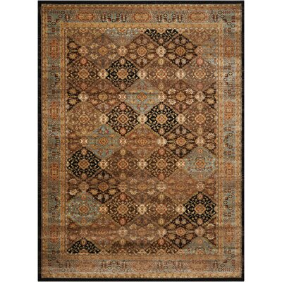 Ravens Brown/Black Area Rug Rug Size: 710 x 1010