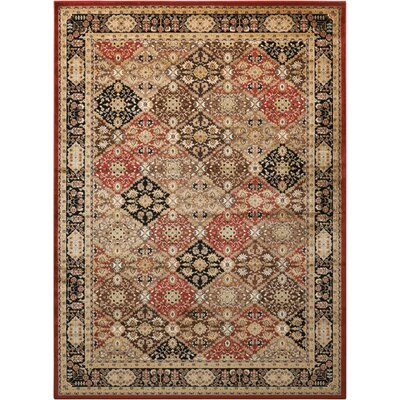 Ravens Brown/Black Area Rug Rug Size: 67 x 96