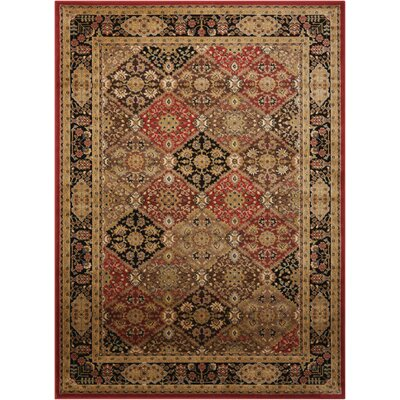 Ravens Brown/Black Area Rug Rug Size: 53 x 73