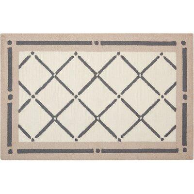 Northampton Hand-Woven Ivory/Gray Area Rug Rug Size: 19 x 210