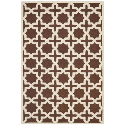 Brunswick Brown/Beige Area Rug Rug Size: 6' x 9'