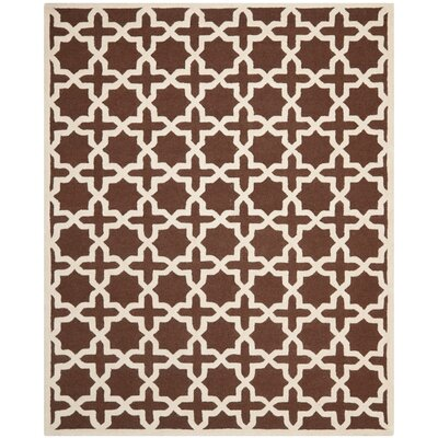 Brunswick Wool Brown/Ivory Area Rug Rug Size: Rectangle 8 x 10