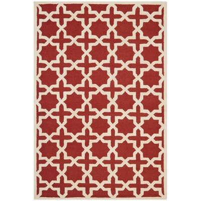 Brunswick Wool Red/Beige Area Rug Rug Size: Rectangle 6 x 9