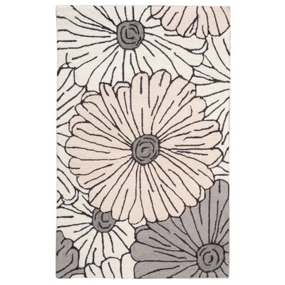 York Hand-Hooked Gray/Brown Area Rug Rug Size: Rectangle 26 x 4