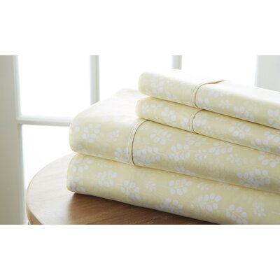 Perley Wheat Sheet Set Color: Ivory, Size: California King