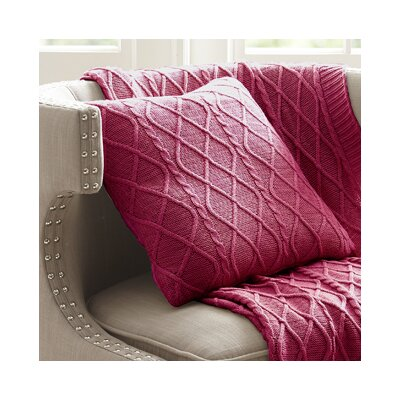 Marseilles Decorative Cotton Throw Pillow Color: Cherry Red