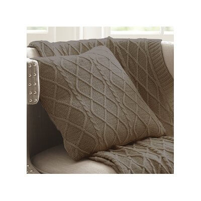 Marseilles Decorative Cotton Throw Pillow Color: Driftwood