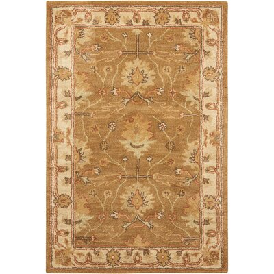 Exmoor Hand-Tufted Amber Area Rug Rug Size: Rectangle 36 x 56