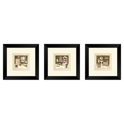 'Vintage Bath' Framed Painting Print Set