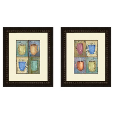 'Cups' 2 Piece Framed Painting Print Set