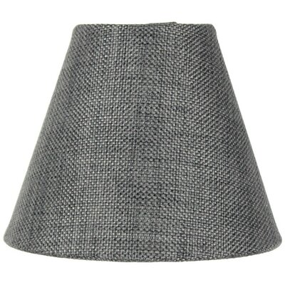 6 Burlap Empire Candelabra Shade Color: Granite Gray