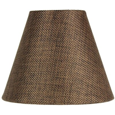 6 Burlap Empire Candelabra Shade Color: Chocolate