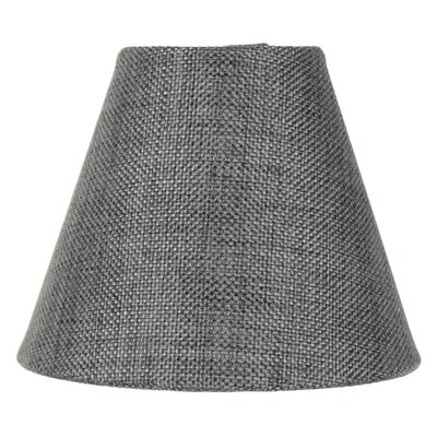 5 Burlap Empire Candelabra Shade Color: Granite Gray