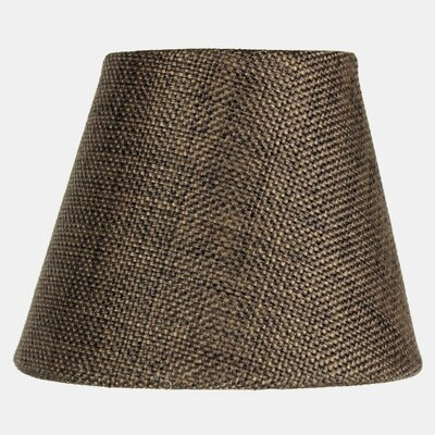 5 Burlap Empire Candelabra Shade Color: Chocolate
