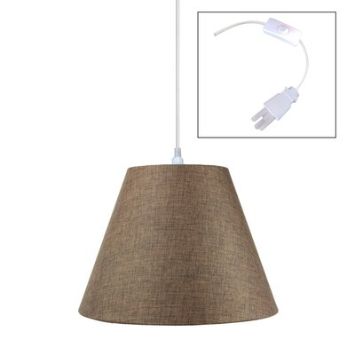Hallstead 1-Light Pendant Shade Color: Khaki Burlap