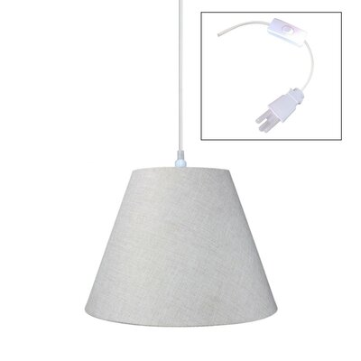 Hallstead 1-Light Pendant Shade Color: Light Oatmeal