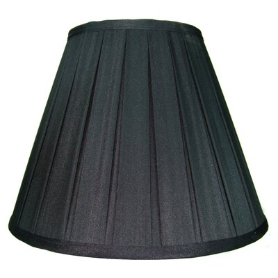 12 Shantung Empire Lamp Shade Color: Black
