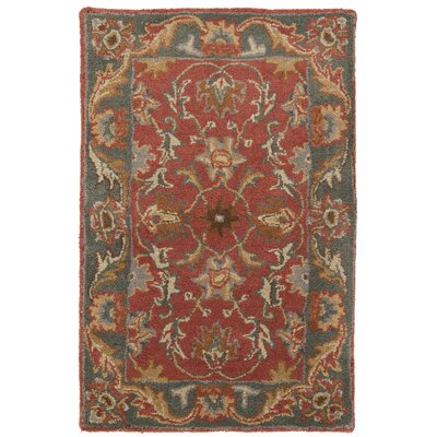Waterston Hand-Woven Wool Red Area Rug Rug Size: Rectangle 5 x 8