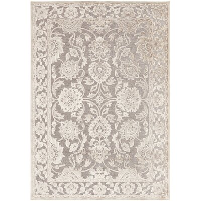 Mailou Gray & Parchment Area Rug Rug Size: 52 x 76