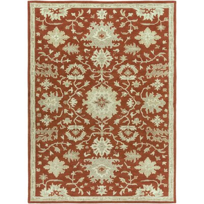 Willard Burgundy/Beige Area Rug Rug Size: Rectangle 8 x 11