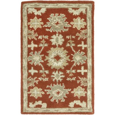 Willard Burgundy/Beige Area Rug Rug Size: Rectangle 5 x 8