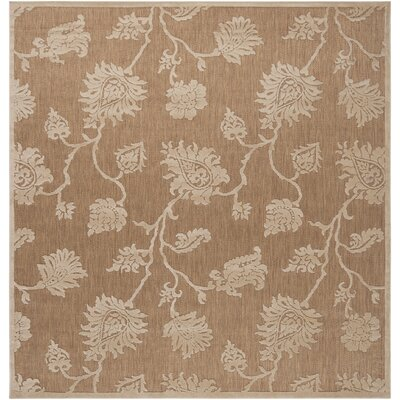 Gaither Khaki Outdoor Area Rug Rug Size: Square 76