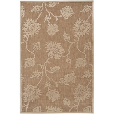 Gaither Khaki Outdoor Area Rug Rug Size: 5 x 76